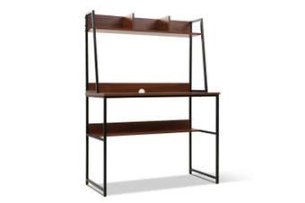 Office Computer Desk Study Table Workstation Bookshelf Storage Walnut