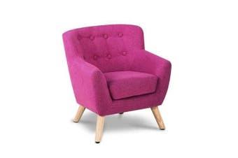 Kids Furniture Fabric Armchair Pink