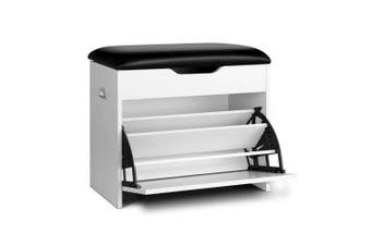 3 Tier Shoe Cabinet Storage Stool Bench White