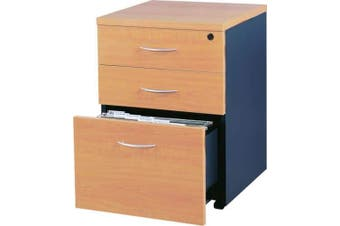 Mantone Mobile Pedestal Drawer - Select Beech/Ironstone
