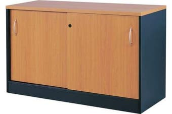 Mantone Credenza Cabinet - 120cm - Select Beech/Ironstone