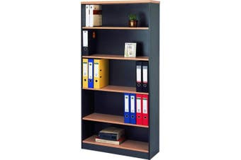 Mantone High Bookcase - Select Beech/Ironstone