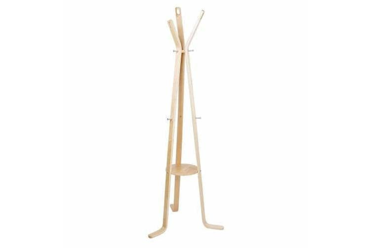 Wooden Coat Rack Clothes Stand Hanger Light Wood