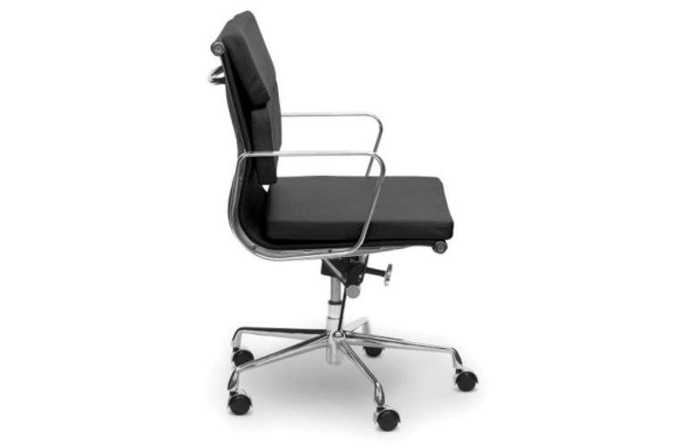 Eames Replica Soft Pad Management Office Chair - Low Back - Black