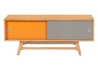 6IXTY Entertainment TV Unit - 120cm - Orange & Grey
