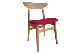 Set of 2 - 6IXTY Avro Oak Dining Chair - Red