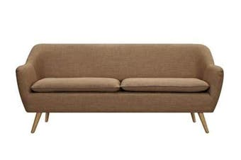 6IXTY Luxe 3-Seater Sofa - Tobacco