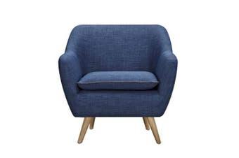 6IXTY Luxe 1-Seater Armchair - Dark Blue