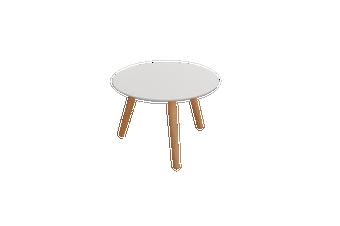 Art Round Coffee Table - White