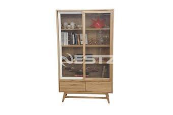 6IXTY Vitrine 2-Door Display Cabinet - Natural