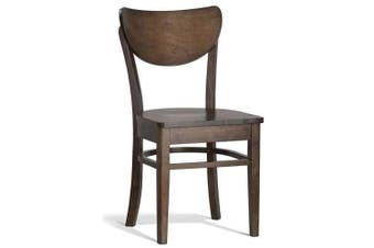 Set of 2 - Asti Aliza Dining Chair - Walnut Timber Frame