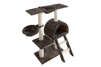 Multi Level Cat Scratching Poles Tree - Ladder - Grey