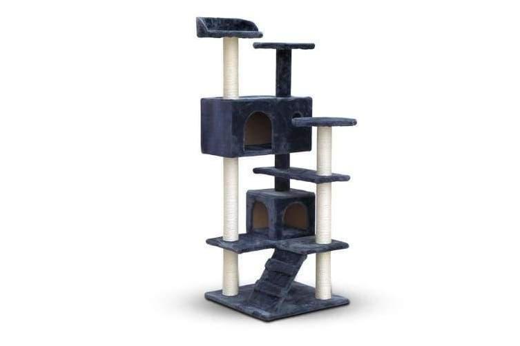 Cat Scratching Post  Tree House Condo 134cm - Grey