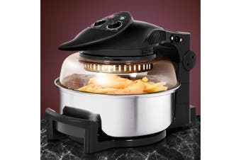 Devanti 12L Air Fryer Rotary Convection Oven Multi Cooker Low Fat Health Black