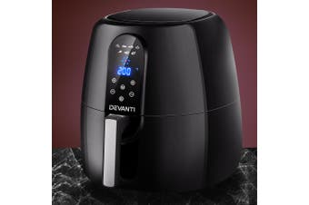 Devanti 7L Air Fryer LCD Healthy Cooker Oil Free Kitchen Oven Airfryer 1800W