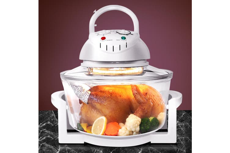 Devanti 17L Convection Oven Halogen Roaster Low Fat Air Fryer Turbo Electric