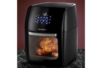 Devanti 12L Air Fryer 1800W Oven Convection Fryers LCD Digital Airfryer Healthy Kitchen Multi Cooker