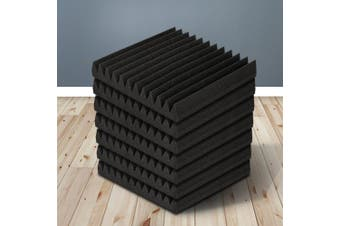 20pcs Studio Acoustic Foam Sound Absorption Proofing Panels 30x30cm Black Wedge