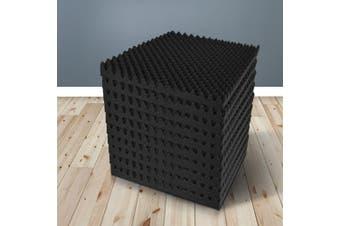 20pcs Studio Acoustic Foam Sound Absorption Proofing Panels 50x50cm Black Eggshell