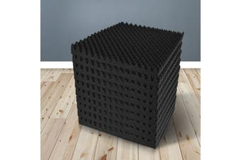 40pcs Studio Acoustic Foam Sound Absorption Proofing Panels 50x50cm Black Eggshell