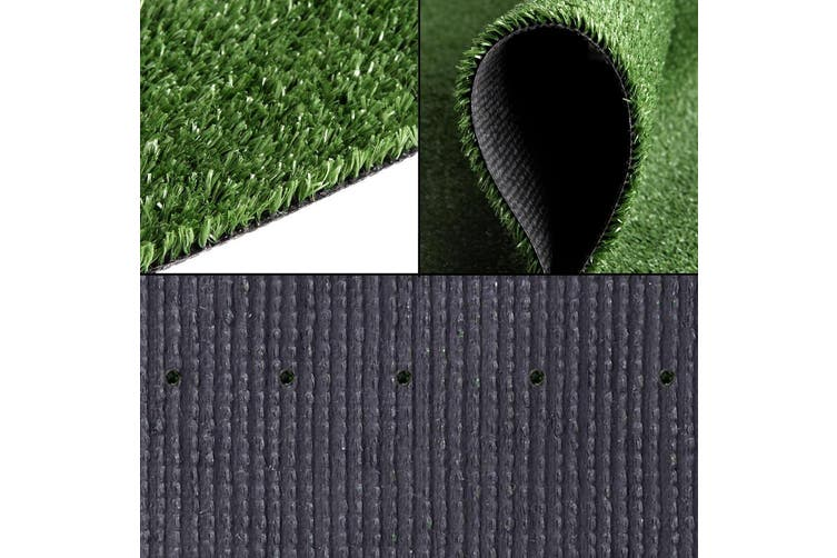 Primeturf 1X10M Synthetic Artificial Grass Fake Turf Olive Plants Plastic Lawn 10mm