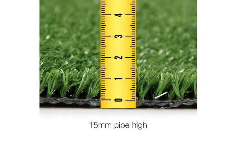 Primeturf Synthetic 17mm 0.95mx10m 9.5sqm Artificial Grass Fake Turf Olive Plants Plastic Lawn