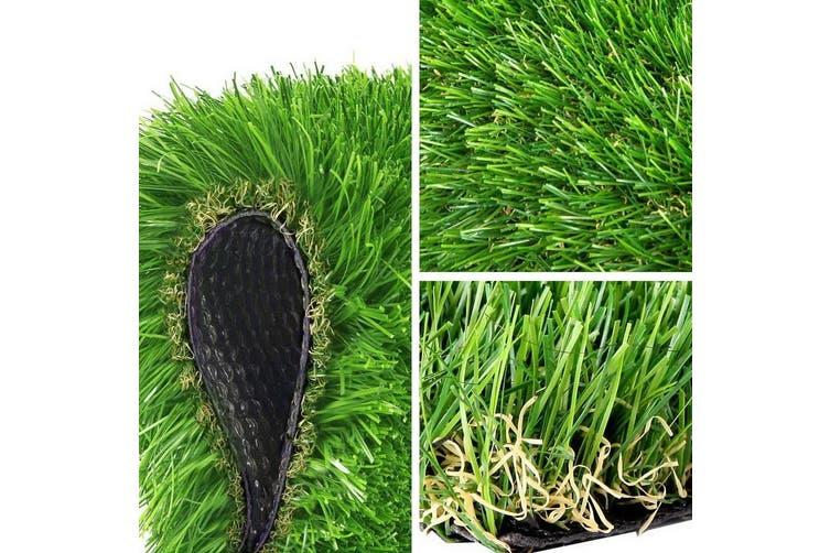 Primeturf Synthetic 20mm 1.9mx5m 9.5sqm Artificial Grass Fake Turf 4-coloured Plants Plastic Lawn