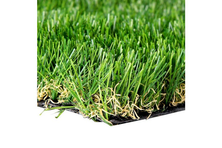 Primeturf Synthetic 30mm 0.95mx5m 4.75sqm Artificial Grass Fake Turf 4-coloured Plants Plastic Lawn