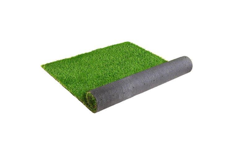 Primeturf Synthetic 30mm 1.9mx5m 9.5sqm Artificial Grass Fake Turf 4-coloured Plants Plastic Lawn