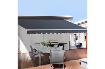 Instahut 5X2.5M Motorised Folding Arm Awning Retractable Outdoor Sunshade Canopy