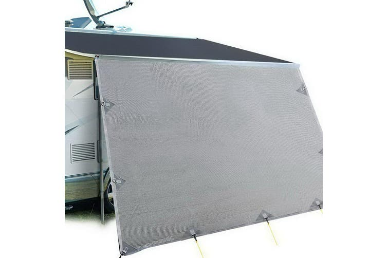 Weisshorn 5.2M Caravan Privacy Screens End Wall Side Sun Shade Roll Out Awning