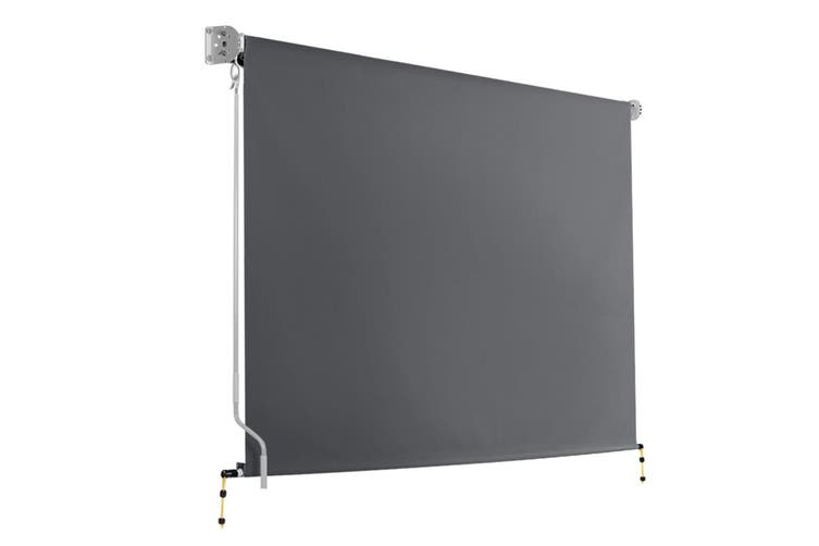 Instahut Retractable Straight Drop Roll Down Awning Patio Screen 2.7X2.5M