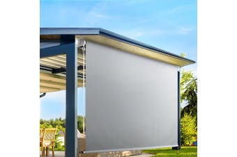 Instahut Retractable Straight Drop Roll Down Awning Patio Shade3.0X2.5M