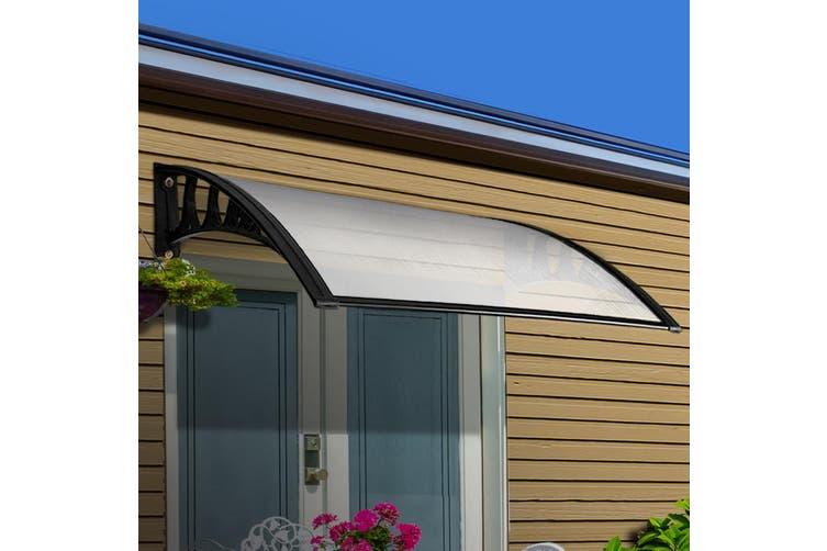 Instahut 1m x 3m DIY Window Door Awning Canopy Patio UV Sun Shield WHITE