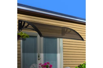 Instahut 1m x 2m DIY Window Door Awning Canopy Patio UV Sun Shield BROWN