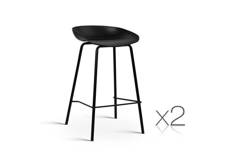 Artiss Kitchen Bar Stools Bar Stool Chairs Metal Black Barstools