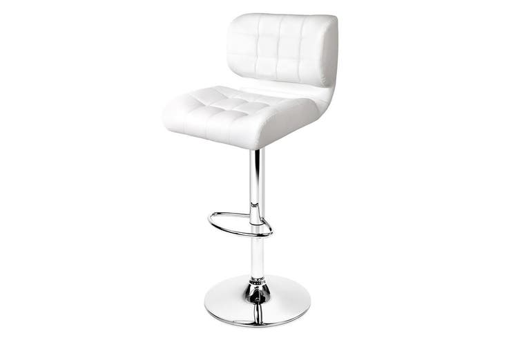 Artiss Bar Stools Leather Kitchen Bar Stool Chairs Gas Lift White