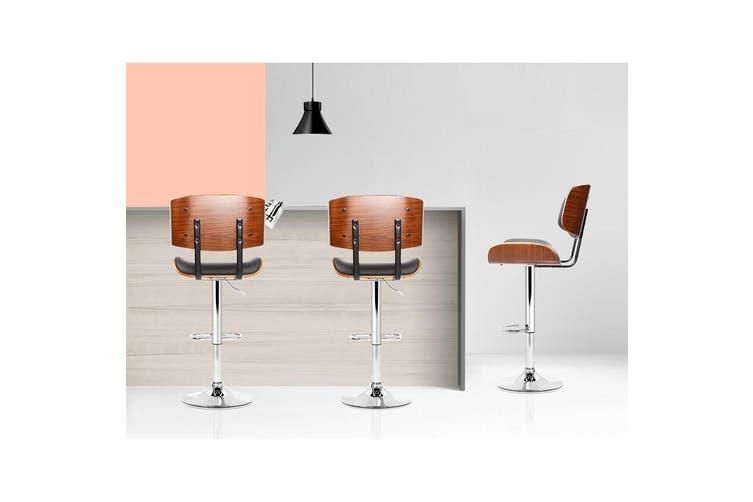 Artiss Wooden Bar Stools Bar Stool Kitchen Chair Dining Black Pad Gas Lift 8045