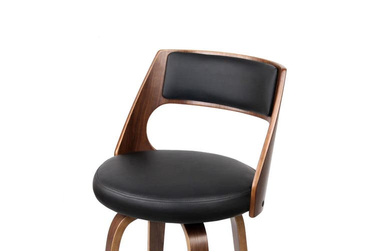 Artiss 2x Wooden Bar Stools Swivel Bar Stool Kitchen Dining Chair Wood Black
