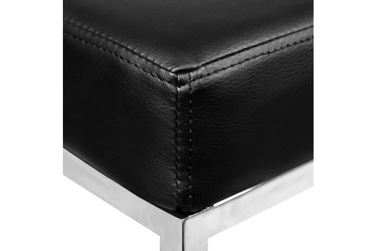 Artiss Set of 2 PU Leather Backless Bar Stools - Black