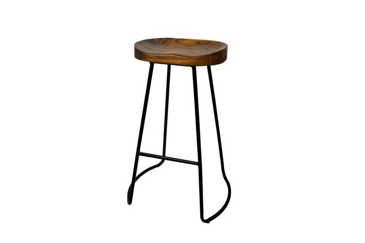 Artiss Vintage Tractor Bar Stools Retro Bar Stool Industrial Chairs Black 75cmX2