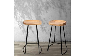 Artiss 2 x Vintage Tractor Bar Stools Retro Bar Stool Industrial Chairs 75cm