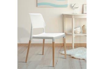 Artiss 4x Belloch Replica Dining Chairs Stackable Designer Wooden Bar Kitchen