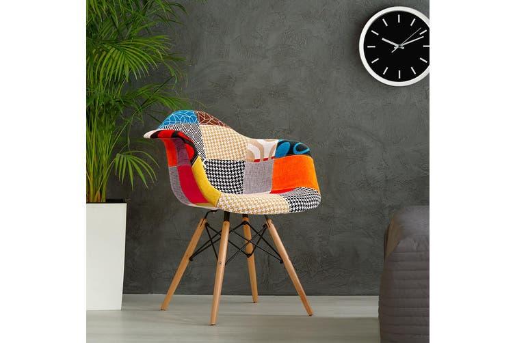 Artiss 2x Retro Replica Eames DAW Dining Chairs Kitchen Chair Fabric Armchair