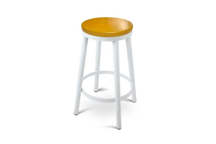 Artiss 2x DANNY Industrial Bar Stools Stackable Bar Stool Dining Chairs Wooden