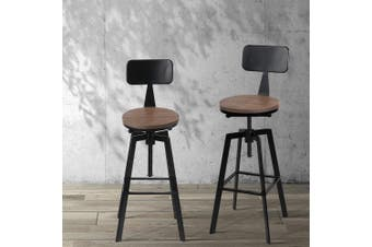 Artiss 1x Vintage Bar Stools Retro Kitchen Bar Stool Industrial Chairs Rustic
