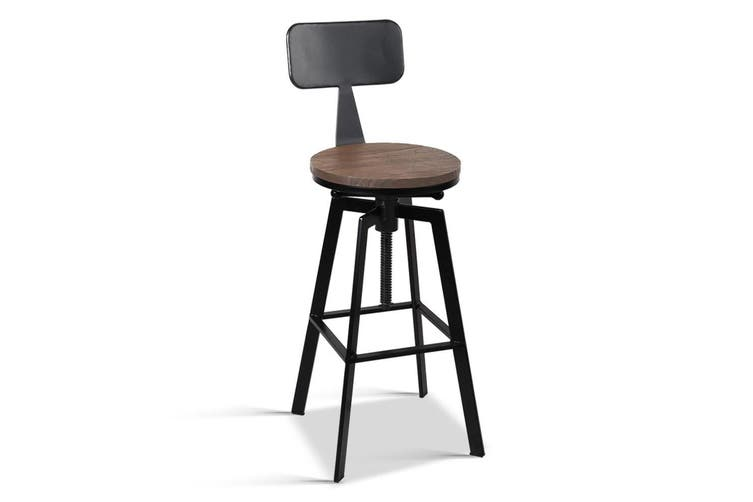 Artiss 1x Vintage Bar Stools Retro Kitchen Bar Stool Industrial Chairs Rustic