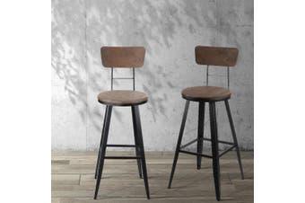 Artiss Vintage Bar Stools Retro Swivel Bar Stool Industrial Chairs