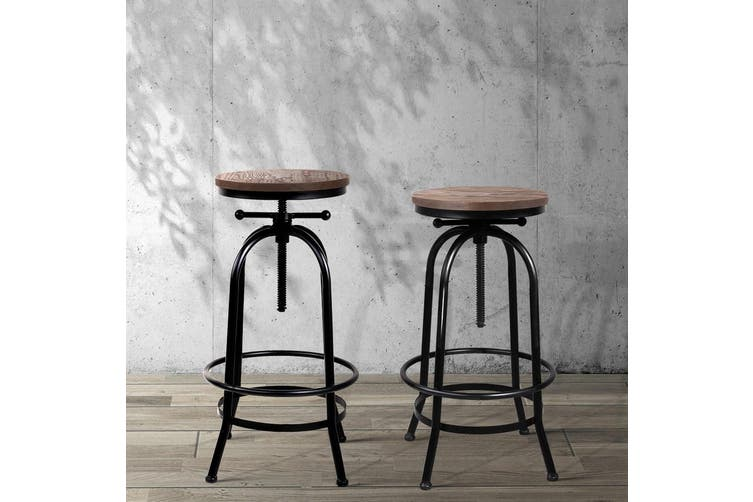 Artiss 1x Kitchen Bar Stools Vintage Bar Stool Retro Industrial Chairs