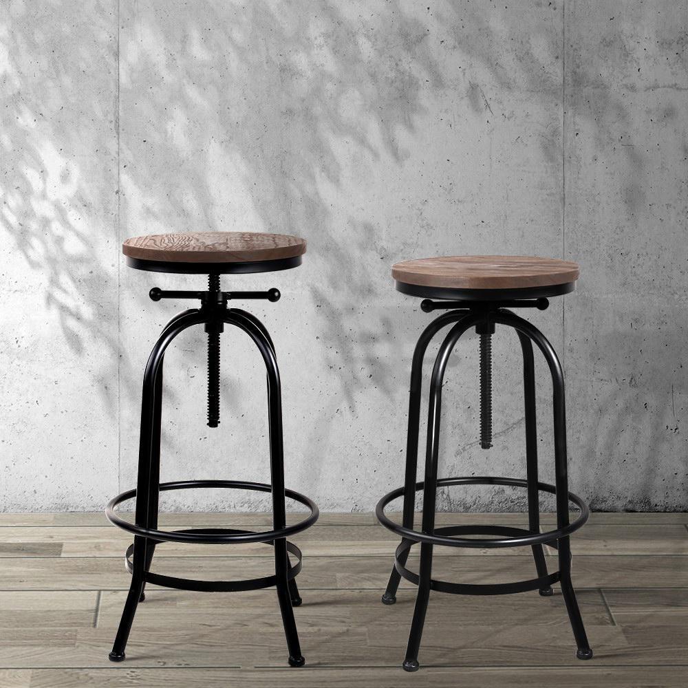 Picture of: Artiss 1x Kitchen Bar Stools Vintage Bar Stool Retro Industrial Chairs Matt Blatt